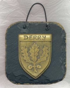 Derry County Crest Irish Slate Plaque